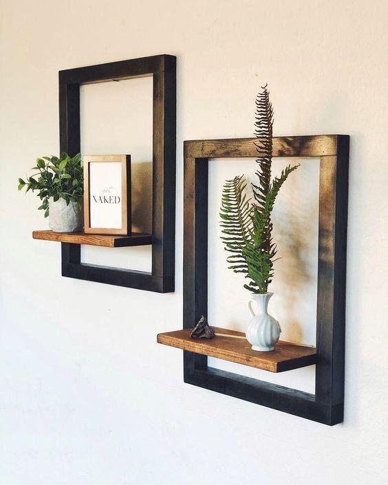 تابلو چوبی(شلف دیواری)