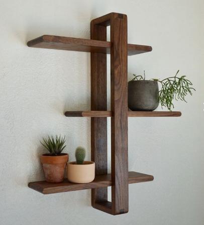 قفسه چوبی دیواری