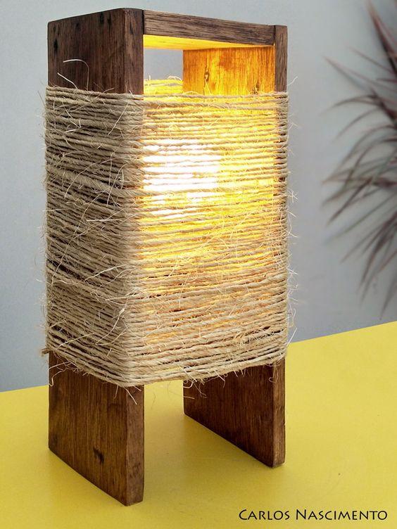 چراغ خواب چوبی-کنفی